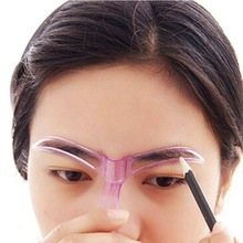 Professional Beauty Tool Makeup Grooming Drawing Blacken Eyebrow Template Maquiagem Plastic picture