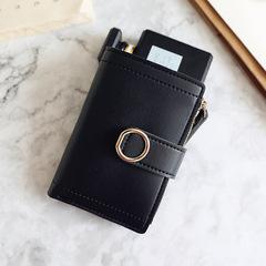 Women Wallets Small Fashion Brand Leather Purse Women Ladies Card Bag For Women 2018 black Short