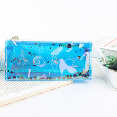 Creative Transparent Laser Pencil Bag Sequins Reflective Student Stationery Box School Supplies 1