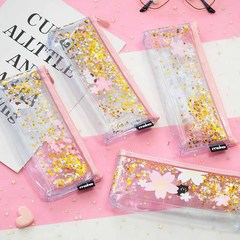 1pcs/1lot Kawaii Pencil Case Gold blossoms Gift Estuches School Pencil Box Pencilcase Pencil Bag random