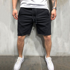 Slim Fit Casual Shorts Mens Fashion Brand Summer Men Shorts Fitness Plus Size Beach Short black s