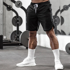 Muscleguys Gyms Shorts Mens Short Trousers Casual Joggers Mens Shorts bodybuilding Sweatpants black m
