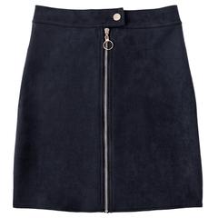 Samuume 2019 Suede Solid A Line Mini Short Skirts Women High Waist Button Zipper Sexy Harajuku black m