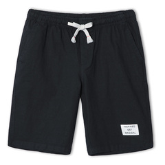 Pioneer Camp solid casual shorts men brand-clothing simple summer cotton shorts male black m