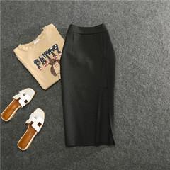 Magiray High Waist Elastic Pencil Skirt Female Bodycon Skirts Womens Summer 2017 Knee Length black average