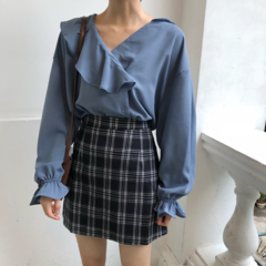 Autumn women's Preppy Style new fashion large size plaid summer female A-line skirt fashion Harajuku picture s