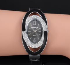 Women Luxury Rhinestones Bangle Watches Ladies Casual Bracelet Watch black one size