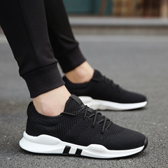 Men Shoes 2018 New Man Casual Shoes Fashionl Men Sneakers Lace-up Men Vulcanize Shoes black 39