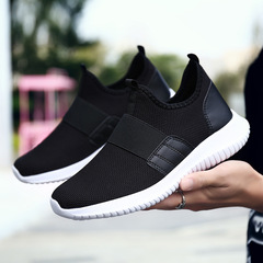 2019 Spring Shoes Men Dropshipping New Fashion Classic Comfortable Breathabl Nonleather Casual black 39