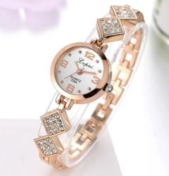 Lvpai Brand Luxury Women Watch Fashion Bracelet For Ladies Dress Quartz Watches gold white one size