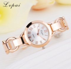 Lvpai Brand Luxury Dress Watches Rose Gold Dial Women Bracelet Wristwatch silver white one size