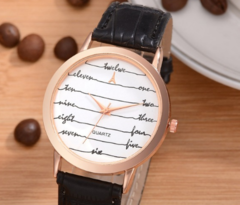 Ladies Leather Watch Casual Women Sport Watches Clock Lvpai Rose Gold letter Women Fashion brown one size