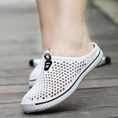 DUDELI Men Water Shoes Breathable Women Beach Flat Summer Travel Sneakers Lightweight Slip white 36
