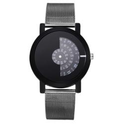 Relogio Feminino Top Brand Men Watches Fashion Stainless Steel Analog Quartz Wrist Watch black one size