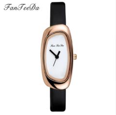 FanTeeDa Brand Watches Women Fashion Casual Female Women Black Leather Sport Strap brown one size