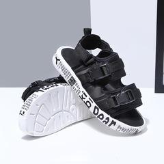 Summer Sandals Men Classic Roman Sandals Outdoor Slippers Sneaker Beach Rubber Men Water Trekking black 36