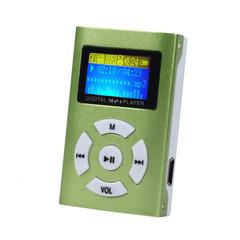 AIKEGLOBAL Hifi USB Mini MP3 Music Player LCD Screen Support 32GB Micro SD TF Card Sport Fashion green