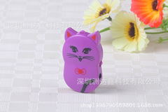 HOT Lovely Cute Cat MP3 Player Mini USB MP3 Music Player Support 32GB Micro SD TF Card Music purple