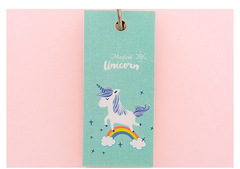 100 Sheets Kawaii Creative Unicorn Animal Study Vocabulary Notebook Words Card Writing Reciting Book 1 one size