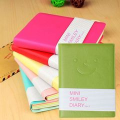 Memo Charming Mini Cute Smile Diary Notebook Portable Smiley Paper Note Book random one size
