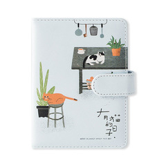JIANWU Cute Cat Notebook Planner Scrapbook Soft Cover Diary PU Agenda 2019 Bullet Journal 1 one size