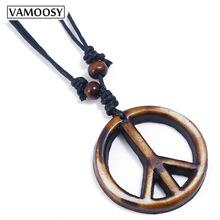 Vintage Leather Collier Cross Peace Punk Men Necklaces & Pendants Body Choker Chain 1 one size