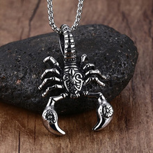 Impressive Men Tribal Scorpion King VERY VENOM Pendant Necklace Stainless Steel in Silver-color silver one size