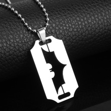 MQCHUN New Arrival Batman Necklace Superhero Dog TagNecklace Bead Chain Batman silver one size