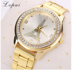 Lvpai Brand Gold Women Fashion Luxury Watch Ladies Quartz Wristwatch Tower Luxury gold one size