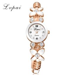 Lvpai Brand New Luxury Ladies Quartz Watches Flower Fashion Women Wristwatch gold white one size