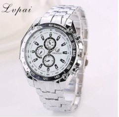 Lvpai Brand Fashion Casual Silver Stainless Steel Ladies Sport Wristwatch silver one size