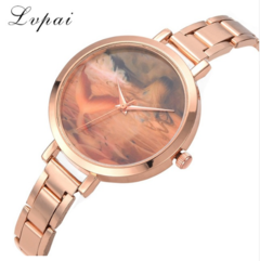 Lvpai Brnad Women Dress Watches Rose Gold Stainless Steel Watch Top Brand gold one size