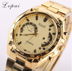Lvpai Hot Sale Brand Gold Business Watch Fashion Casual Ladies Sport Wristwatch gold one size