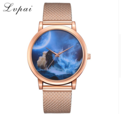 Lvpai Women's Watches Luxury Rose Gold Cartoon Mermaid Dial Sport Silicone Dress rose gold one size