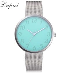 Lvpai Brand Silver Women Fashion Luxury Watch Metal Mesh Belt Creative Watch black one size