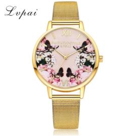 Fashion Gold Watch Women Luxury Dress Quartz Wristwatch Ladies Classic Fashion gold one size