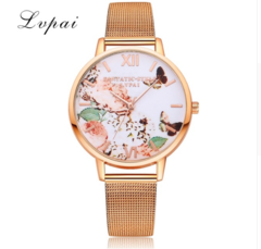 Fashion Casual Gold Sport Watch Women Quartz Watch Lvpai Brand Luxury Bracelet Watches gold one size