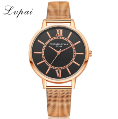 LVPAI Hot Selling Silver Quartz Watch Brand Simple Style Women Female Casual Watch gold one size