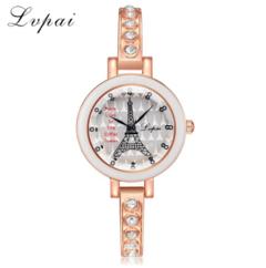 Lvpai Brand Fashion Women Watches Tower Luxury Wristwatch Clock Ladies Dress silver white one size