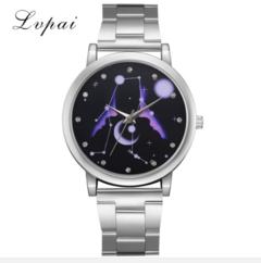 Lvpai Brand Watches Women Fashion Luxury Silver Stainless Steel Watch Starry Sky silver one size
