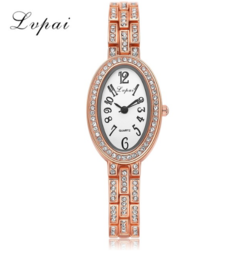 Lvpai Fashion Women Watches Wristwatch Ellipse Designer Female Watch Luxury Watch gold white one size