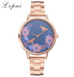 Lvpai Rose Gold Watches Women Stainless Steel Fashion Luxury Watch Business rose gold one size