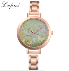 Lvpai Rose Gold Watch Women Watches Stainless Steel Ladies Women's Watch gold one size