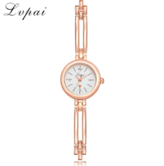 Lvpai Brand New Arrive Women Fashion Luxury Watch Rose Gold Ladies Wristwatch gold white one size