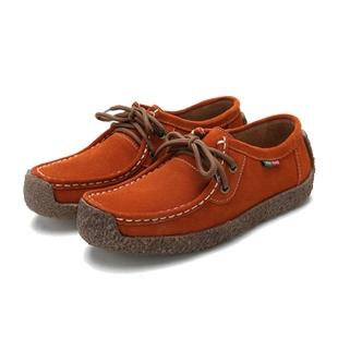 Fashion Women Cow Split Soft Sole Genuine Leather Shoes Platform Leisure Suede Shoes Plus Size orange 41