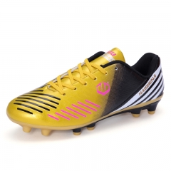 Kids Adult Soccer Shoes Men Professional Spiked Football Shoes Boy Training Women Nail Soccer Boots gold 45