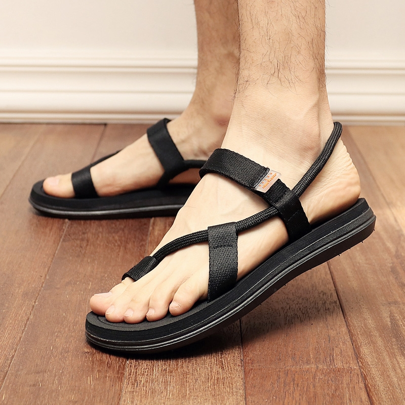 2b0583c91c878c New Summer Beach Shoes Men Sandals Roma Leisure Breathable Canvas Sandals  Casual Flip Flops Slippers black 39  Product No  2311295. Item specifics   Brand