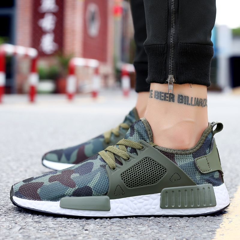 d5a60e1d9 Men Camouflage Sport Shoes Fashion Breathable Wearable Sneakers ...