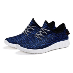 Men Fashion Breathable Sneakers Casual Wearable Yeezy Sport Shoes Leisure Walking Running Shoes blue 41