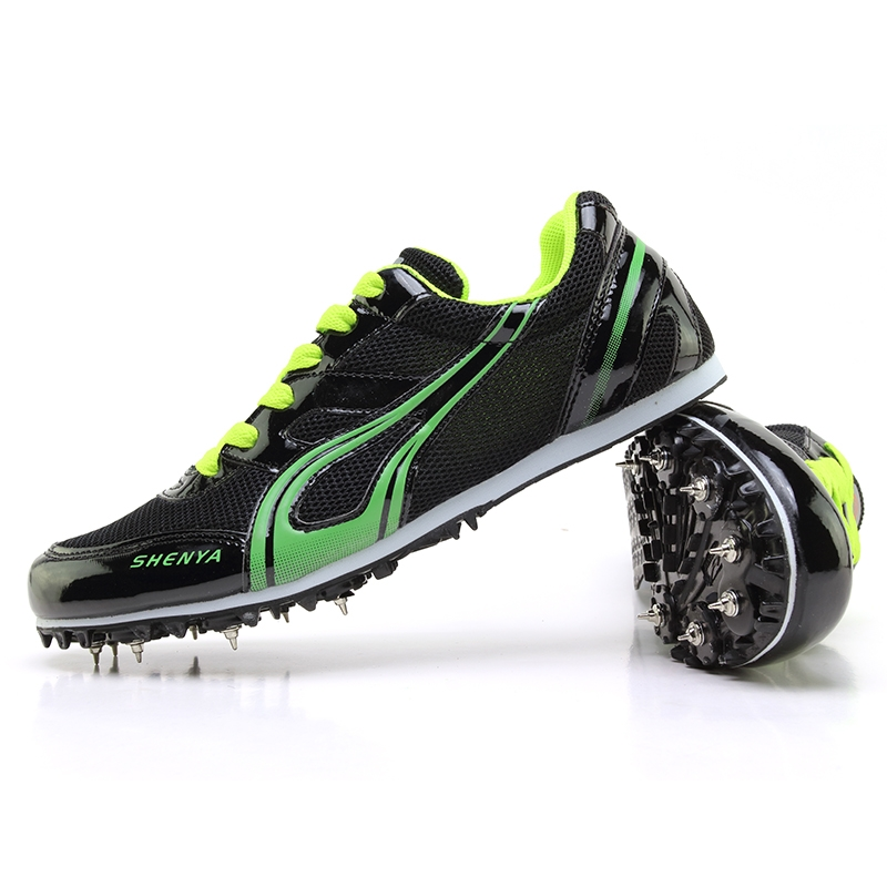 7c8271aea Men Professional Running Spikes Shoes Women Runner Athletics Training Shoes  Sport Steel Nail Shoes black 35  Product No  2588742. Item specifics  Brand